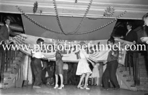 Dancing the twist at the Strand Theatre, Newcastle, NSW, January 1961. (9)
