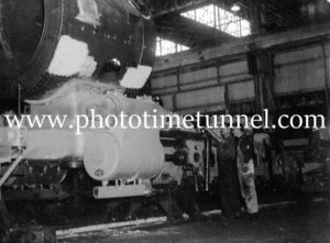 Building locomotive at Cardiff Railway Workshops, NSW, May 8, 1945 (3).