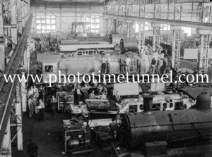 Building locomotive 3807 at Cardiff Railway Workshops, NSW, February 15, 1946 (3)