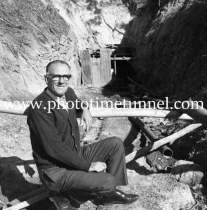 Developer Art Mawson at Caves Beach, Lake Macquarie, August 1969 (9).