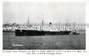 World War 1 troopship A34 Persic
