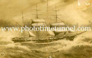 Sailing ship, brig Adderley, 1909
