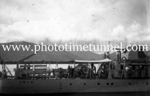 RAN ship HMAS Swan during World War 2