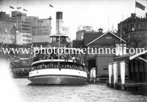 Ferry at Circular Quay, Sydney, NSW.