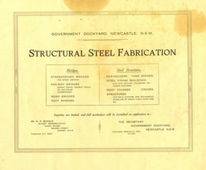 Bridges built by Walsh Island Dockyard, Newcastle, 1921 marketing brochure. PDF download
