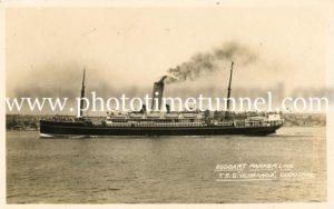 Ship TSS Ulimaroa, Huddart Parker line.
