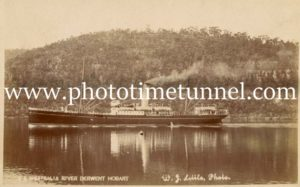 Ship Westralia in the Derwent River, Tasmania.
