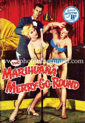 The Marihuana Merry-go-round vintage pulp novel cover art