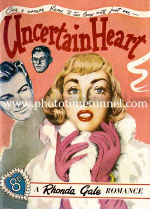 Uncertain Heart vintage pulp art