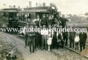 Last day of Maitland steam tramway 31-12-1926 (7)