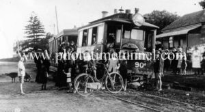 Steam tram derailment corner Lawes and Victoria Streets East Maitland c1917 (7)