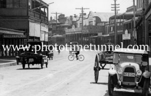 View in High Street Maitland circa 1920s (1)