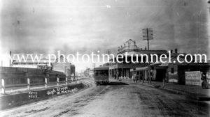 Steam tram in High Street Maitland (2)
