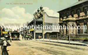 Postcard view of High Street Maitland