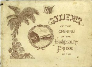 Souvenir brochure for the opening of the Hawkesbury River railway bridge, NSW, May 1, 1889. (PDF download.)