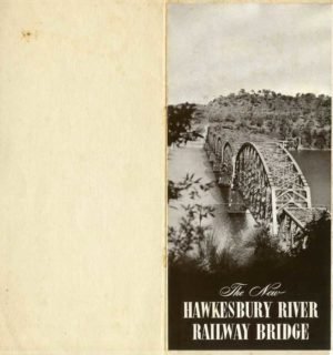 Souvenir brochure for the opening of the second Hawkesbury River rail bridge, NSW, July 1, 1946. (PDF download)