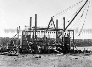 Construction of the Hexham Bridge over the Hunter River near Newcastle, NSW, June 17, 1947. (2)
