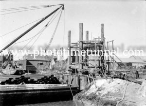 Construction of the Hexham Bridge over the Hunter River near Newcastle, NSW, June 17, 1947. (3)