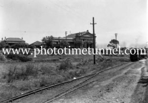 Coal rail line between St Andrews Church and Baptist Tabernacle Newcastle, circa 1940s (2)