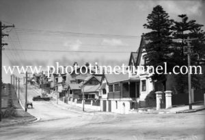 The Terrace, opposite King Edward Park, The Hill, Newcastle, NSW, October 1935.