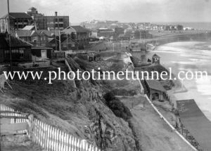 View over South Newcastle Beach, NSW, June 23, 1937