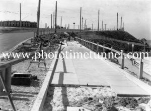 Building new pavement at Newcastle Beach, NSW, August 14, 1939