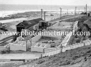Construction of Surf House, Merewether, NSW, December 13, 1936