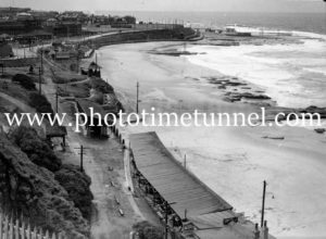 View over Newcastle Beach, NSW, March 24, 1937