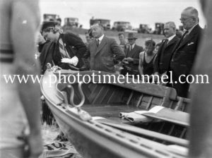 Christening a new surfboat at Newcastle, NSW, October 3, 1937 (2)