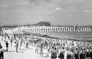 Surf Carnival at Nobbys Beach, Newcastle, NSW, December 7, 1936 (2)