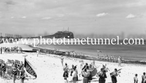 Surf Carnival at Nobbys Beach, Newcastle, NSW, December 7, 1936