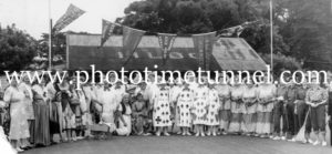 Hamilton Ladies Bowling Club (Newcastle NSW) fancy dress day, circa 1950s
