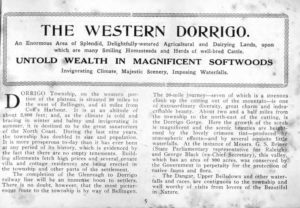 Guide to the Dorrigo Shire, 1917, compiled by T.W. Comyns. PDF download