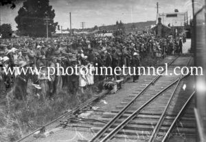 At Tenterfield Railway Station for the NSW visit of Prince Henry, Duke of Gloucester, 1934