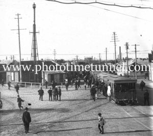 Steam trams at Broadmeadow Junction, (Nineways) circa 1910.