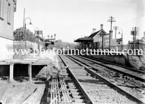 Adamstown Railway Station, Newcastle, NSW, May 31, 1938.
