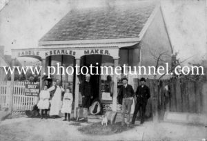 Shop of A. Searles, saddle-maker, Hinton, NSW, c1900