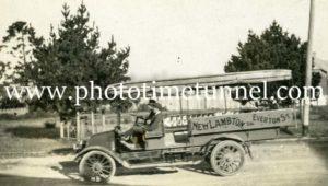 """The Marvel"" bus, New Lambton (Newcastle), NSW, c1920s"