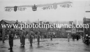 Military guard for the visit of Queen Elizabeth II to Newcastle, NSW, 1954 (2)