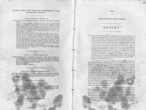 Report of the NSW select committee on the extension of the railway line in Newcastle, NSW, 1857. PDF download