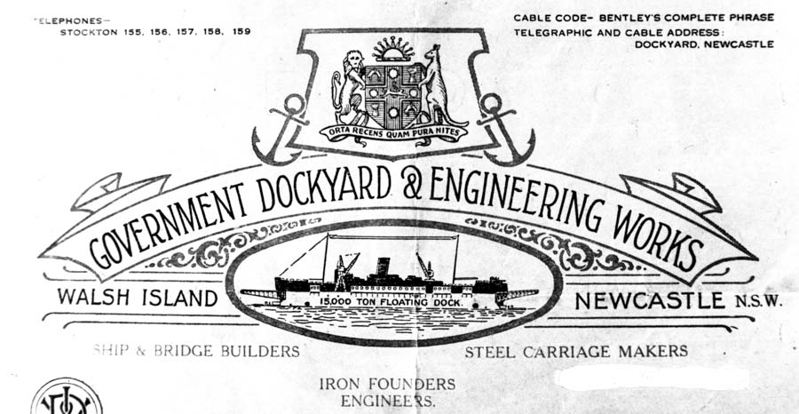 Walsh Island Dockyard in 1929