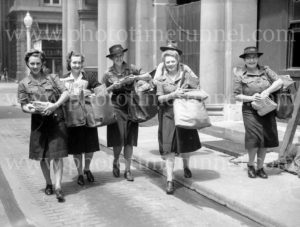 Women trained for mail delivery during World War 2, Newcastle, NSW, December 22, 1944 (1)