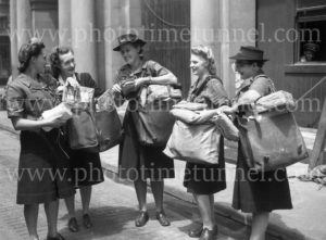 Women trained for mail delivery during World War 2, Newcastle, NSW, December 22, 1944 (2)