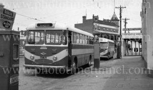 Calder Highway Coaches Bus in Bendigo, Victoria, circa 1960s
