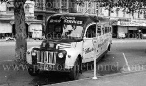 Flood's Motor Service Bus in Bendigo, Victoria, circa 1960s