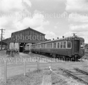South Maitland Railways passenger car No. 2 at depot.