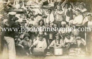 Stokers' Fou Fou Band, HMAS Encounter, South Pacific, circa 1910