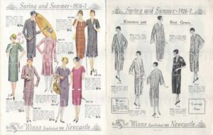 Winns Newcastle store spring fashion catalogue for 1926-1927. PDF download.
