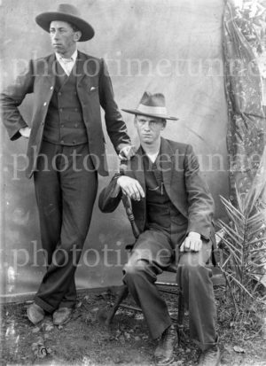 Portrait of two young men. NSW, circa 1910.