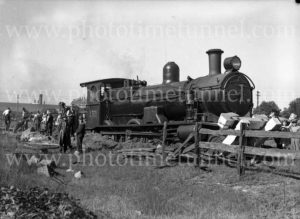 Steam locomotive 3321 derailed at Woodville Junction, Newcastle, NSW, May 11, 1936. (3)